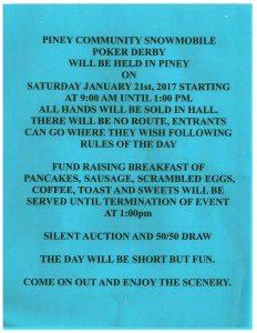 Piney Poker Derby