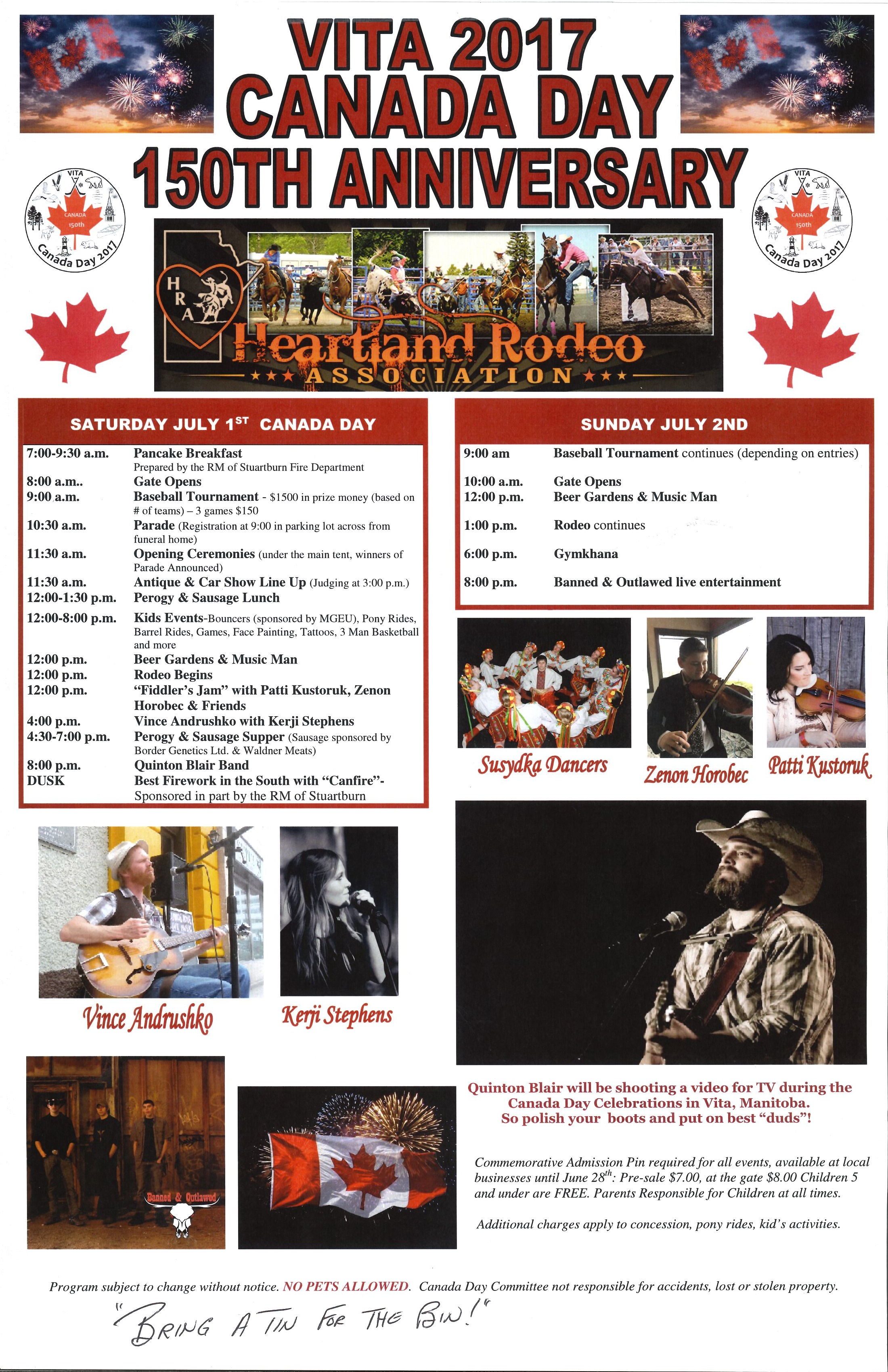 Vita, Canada Day, Rodeo, Family, Music, Children, Baseball