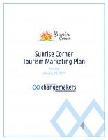 2019 Sunrise Corner Tourism Marketing Plan